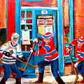 HOCKEY STICKS IN ACTION Poster by CAROLE SPANDAU