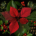 Holiday Greenery Poster by Deborah J Humphries