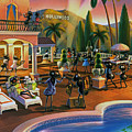 Hollywood Ants Cocktail party Print by Robin Moline