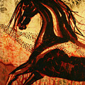 Horse Through Web of Fire Poster by Carol Law Conklin