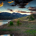 Horsetooth Reservior at Sunset Print by James O Thompson