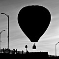 Hot Air Balloon Bridge Crossing Print by Bob Orsillo