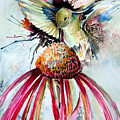 Humming Bird Poster by Mindy Newman