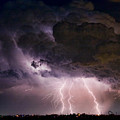 HWY 52 - HWY 287 Lightning Storm Image 29 Poster by James BO  Insogna