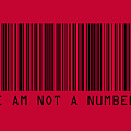 I Am Not A Number Poster by Michael Tompsett