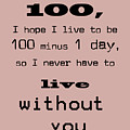 If You Live To Be 100 Print by Nomad Art And  Design