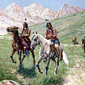 In the Cheyenne Country Print by John Hauser