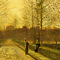 In the Golden Gloaming Print by John Atkinson Grimshaw