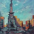 Indy Circle- Day Print by Donna Shortt