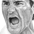 Intensity Federer Print by Tamir Barkan