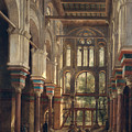 Interior of the Mosque of El Mooristan in Cairo Print by Adrien Dauzats
