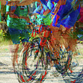 Ironman bicyclist 2109 Print by David Mosby