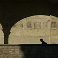 Italy, Tuscany, Florence, A Man Walks Poster by Keenpress