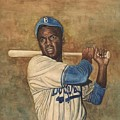 Jackie Robinson Print by Robert Casilla
