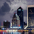 Jacksonville on a Stormy Evening Print by Jeff Turpin