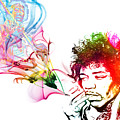 Jimmi Hendrix Print by The DigArtisT