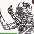 Johnny Manziel 10 Change The Play Poster by Jeremiah Colley
