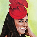 Katherine Duchess of Cambridge Print by Betty-Anne McDonald