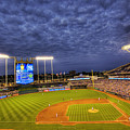 Kauffman Stadium Twilight Poster by Shawn Everhart