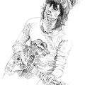 Keith Richards Exile Print by David Lloyd Glover