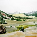 kennedy meadows the dome lands Print by Amy Bernays