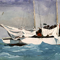 Key West Hauling Print by Winslow Homer