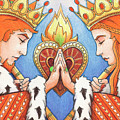 King and Queen of Hearts Print by Amy S Turner