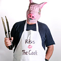 Kiss The Cook Poster by Michael Ledray
