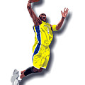 Kobe Bryant 8 Print by Walter Oliver Neal