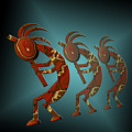 Kokopelli Poster by Carol and Mike Werner