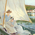 Ladies in a Sailing Boat  Print by Jules Cayron
