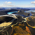 Lake In An Old Volcanic Crater Or Print by Mattias Klum