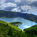 Lake in the Azores Print by Gaspar Avila