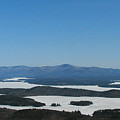 Lake Winnipesaukee view from Mt. Major Print by Michael Mooney