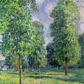Landscape at Sevres Print by Alfred Sisley