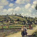 Landscape near Pontoise Poster by Camille Pissarro