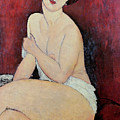 Large Seated Nude Print by Amedeo Modigliani
