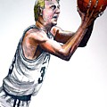 Larry Bird Print by Dave Olsen