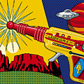 Laser Gun Poster by Ron Magnes