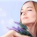 Lavender spa aromatherapy  Poster by Anna Omelchenko