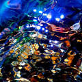 Layers Of Color And Light Print by Terril Heilman