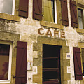 Le Vieux Cafe    The Old Cafe Bar Print by Mark Hendrickson