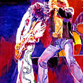 Led Zeppelin - Page and  Plant Poster by David Lloyd Glover