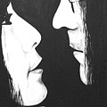 Lennon and Yoko Poster by Ashley Price