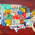 License Plate Map of The United States - Midsize Print by Design Turnpike