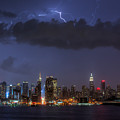 Lightning Over New York City I Poster by Clarence Holmes