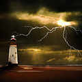 lightning storm Poster by Meirion Matthias