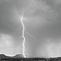 Lightning Strike Colorado Rocky Mountain Foothills BW Print by James BO  Insogna