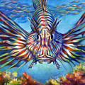 Lion Fish Print by Nancy Tilles