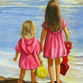 Little Beachcombers Print by Joni McPherson